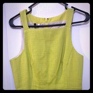 Anthropologie Spring/Neon Yellow Dress